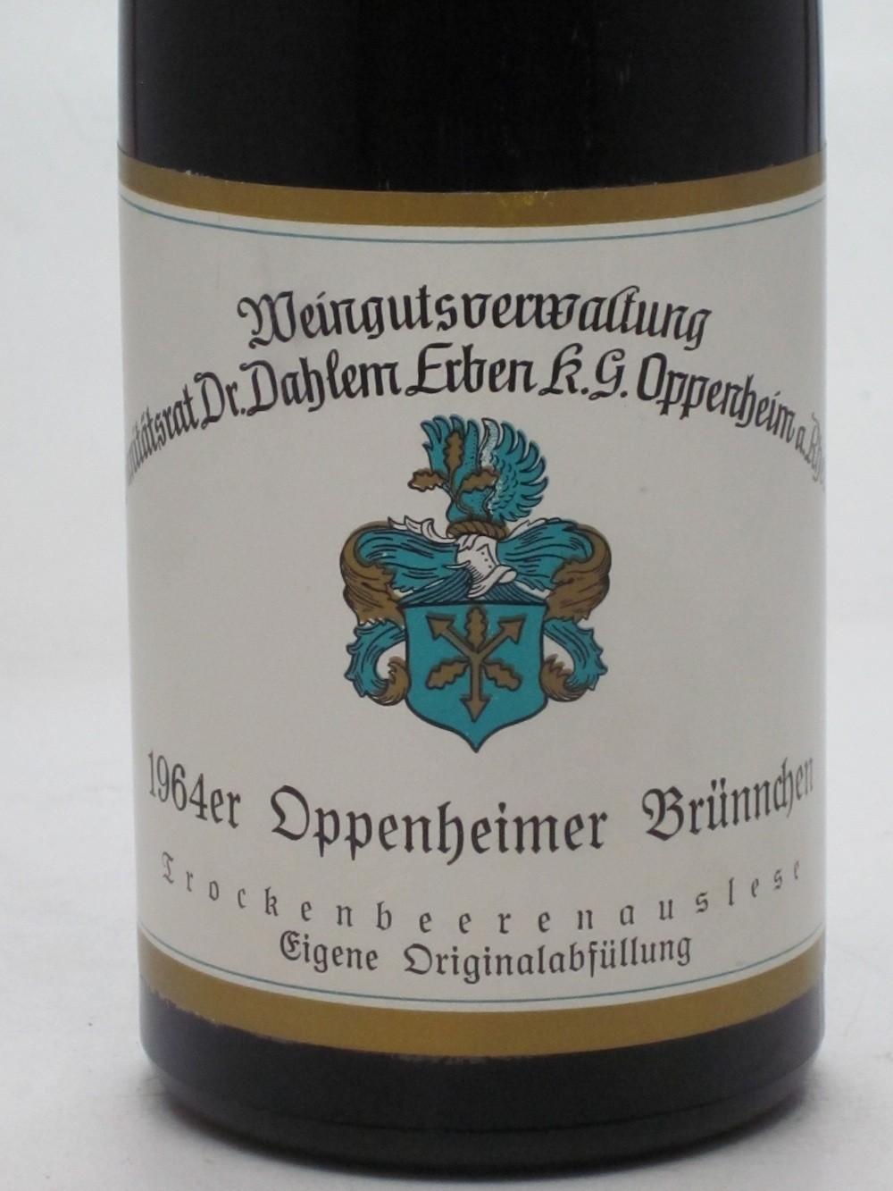 Oppenheimer Brünnchen Trockenbeerenauslese Dr. Dahlem 1964