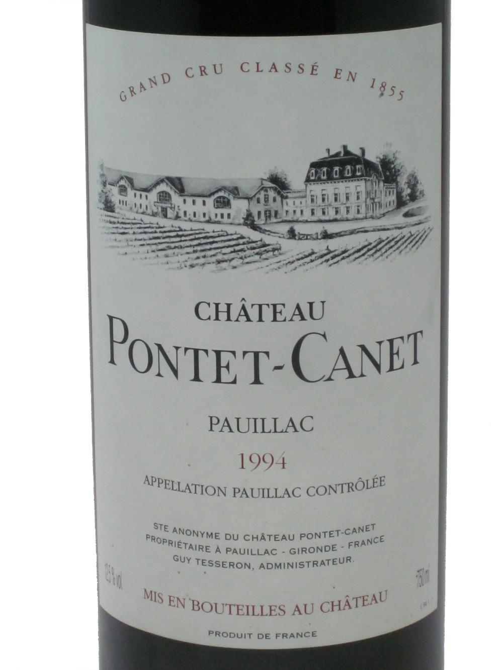 Chateau Pontet-Canet 1994 Bordeaux Pauillac Grand Cru Classe
